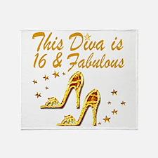 DAZZLING 16TH DIVA Throw Blanket