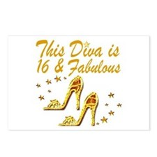 DAZZLING 16TH DIVA Postcards (Package of 8)