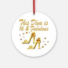 DAZZLING 16TH DIVA Ornament (Round)