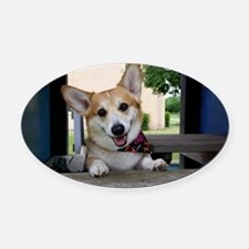 I'm here to make your day better ? Oval Car Magnet