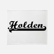Holden surname classic retro design Throw Blanket