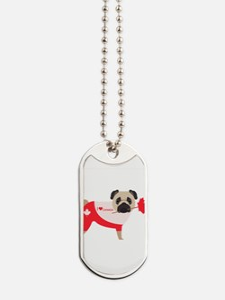 I Love Canada Pug Tees and Gifts Dog Tags