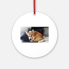 Imitating a sleeping fox Ornament (Round)
