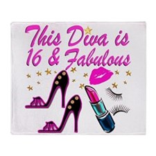 DAZZLING 16TH DIVA Throw Blanket