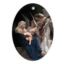 Song of the Angels Oval Ornament