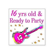 "16TH ROCK STAR Square Sticker 3"" x 3"""