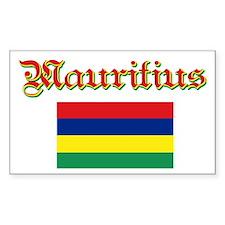 Mauritian Flag Rectangle Decal