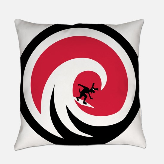 Wave Hound Circle 10 Everyday Pillow