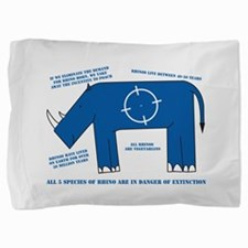 Rhino Facts Pillow Sham