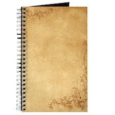 Vintage Scroll & Roses Journal
