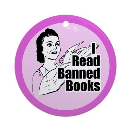 Read Banned Books Keepsake Ornament (Round)