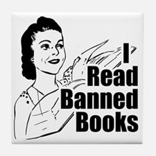 Read Banned Books Tile Drink Coaster