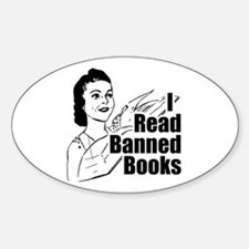 Read Banned Books Oval Bumper Decal