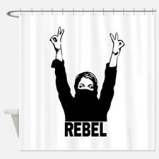 Rebel girl Shower Curtain