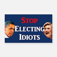 Stop Electing Idiots Rectangle Car Magnet