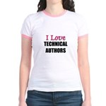 I Love TECHNICAL AUTHORS Jr. Ringer T-Shirt