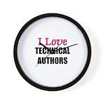 I Love TECHNICAL AUTHORS Wall Clock