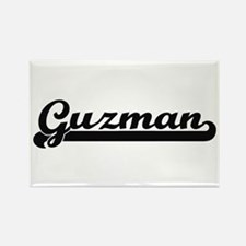 Guzman surname classic retro design Magnets
