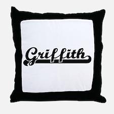 Griffith surname classic retro design Throw Pillow