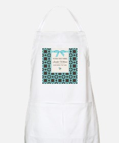 Brown and Blue Ribbon Personalized Apron