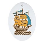 Pro Immigration Keepsake Oval Ornament