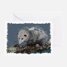 Opossum on a Gnarley Branch Greeting Card
