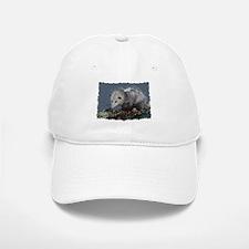 Opossum on a Gnarley Branch Baseball Baseball Cap