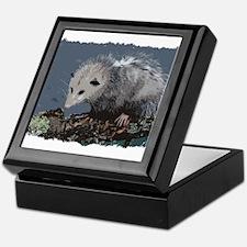 Opossum on a Gnarley Branch Keepsake Box