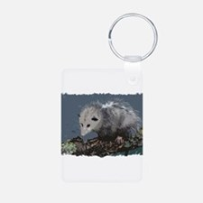 Opossum on a Gnarley Branch Keychains