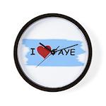 I LOVE FAYE Wall Clock