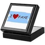 I LOVE FAYE Keepsake Box