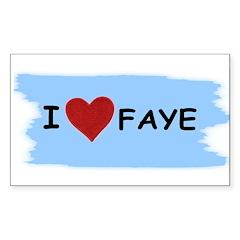 I LOVE FAYE Rectangle Decal