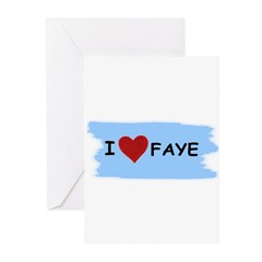 I LOVE FAYE Greeting Cards (Pk of 20)