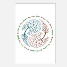 Yin Yang Tree Postcards (Package of 8)