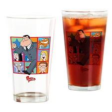 American Dad Frames Drinking Glass