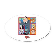 American Dad Frames Oval Car Magnet