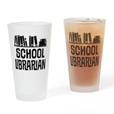 School Librarian Drinking Glass