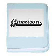 Garrison surname classic retro design baby blanket