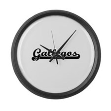 Gallegos surname classic retro de Large Wall Clock