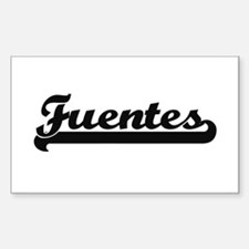 Fuentes surname classic retro design Decal