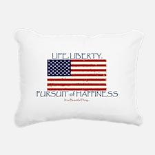 Life, Liberty, Happiness Rectangular Canvas Pillow