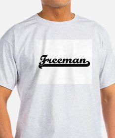 Freeman surname classic retro design T-Shirt