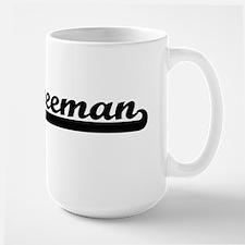Freeman surname classic retro design Mugs