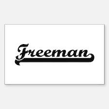 Freeman surname classic retro design Decal