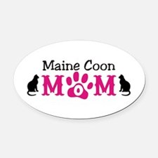 Maine Coon Mom Oval Car Magnet