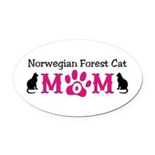 Norwegian Forest Cat Mom Oval Car Magnet