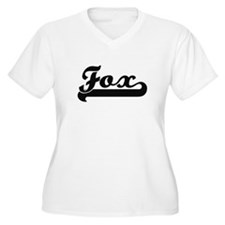Fox surname classic retro design Plus Size T-Shirt