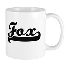 Fox surname classic retro design Mugs