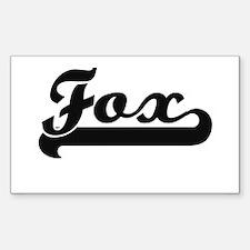 Fox surname classic retro design Decal