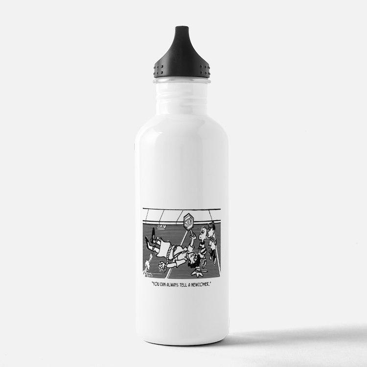 Crossing Guard Cartoon Water Bottle